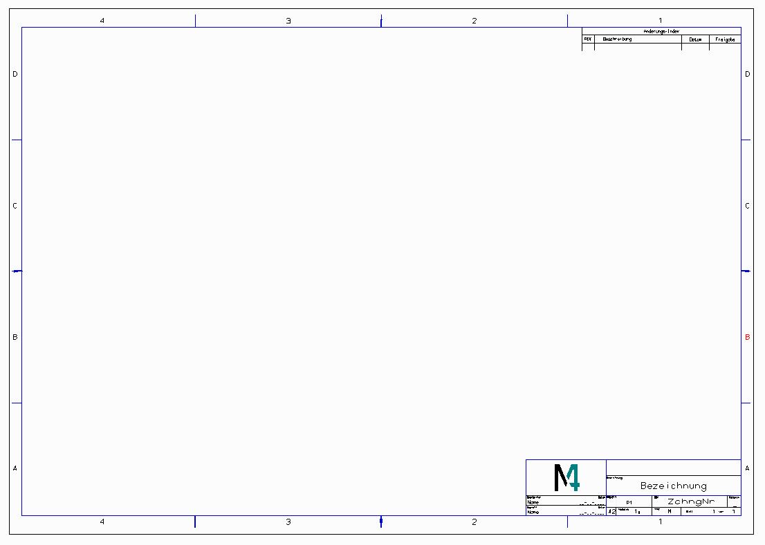 DXF DWG Standardzeichnung