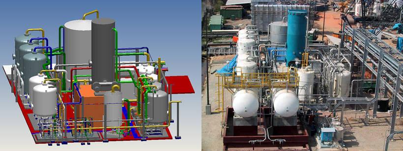 Eine Wasservorbehandlungsanlage mit Entmineralisierung in Trinidad, zusammen mit dem MPDS Originalmodell