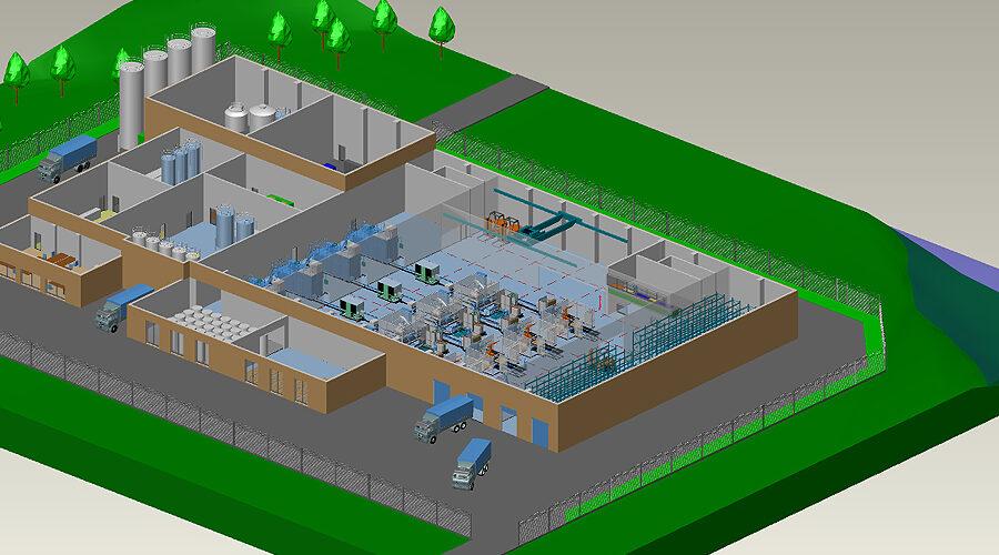 Fabrikplanung Software Fabrikplanungssoftware MPDS4 Gebaude Gelaende