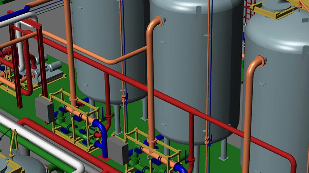 Ganzheitlicher 3D-Anlagenbau mit allen Gewerken in einem System