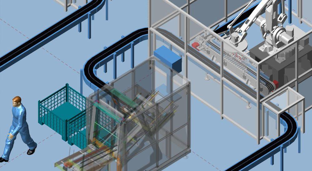 Gelände, Gebäude Und Das Layout Einer Fabrik Planen