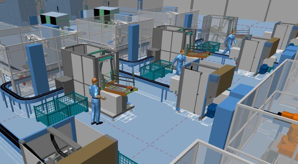 3D Fabrikplanung Und 2D Layout Vereint In Einer Software