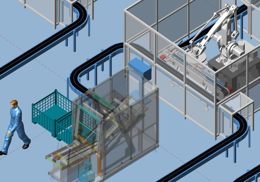 Implantation industrielle 2D/3D