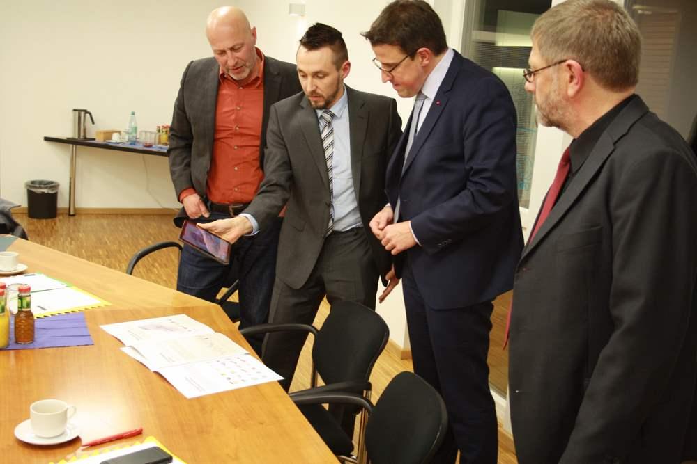 Besuch Landtagsabgeordnete CAD Schroer