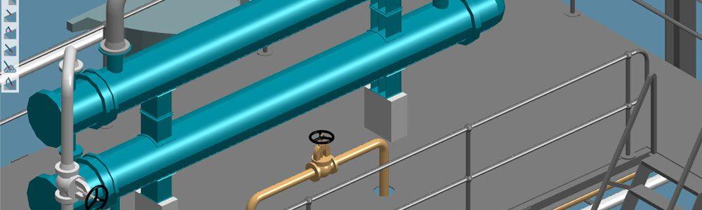 Im Anlagenbau sind Software-Lösungen erforderlich, die auch eine dreidimensionale Visualisierung bereitstellen.