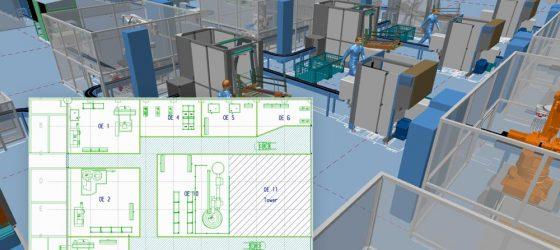 Fabrik in 2D entwerfen und automatisch 3D Aufstellpläne erhalten