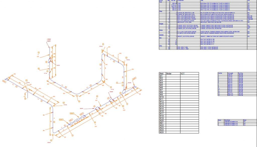 M4 Iso Rohrleitung-Isometrie