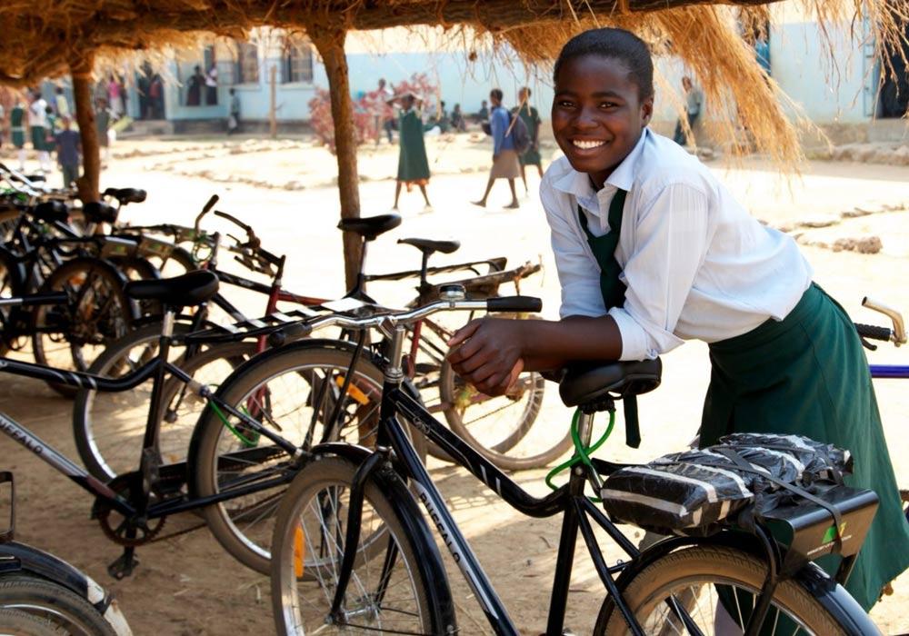 Spendenaktion für Kinder und ihren Zugang zu Bildung. Foto: World Bicycle Relief