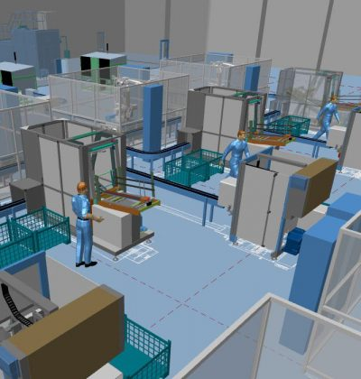Maschinen in ein bestehendes Gebäude einplanen mit MPDS4
