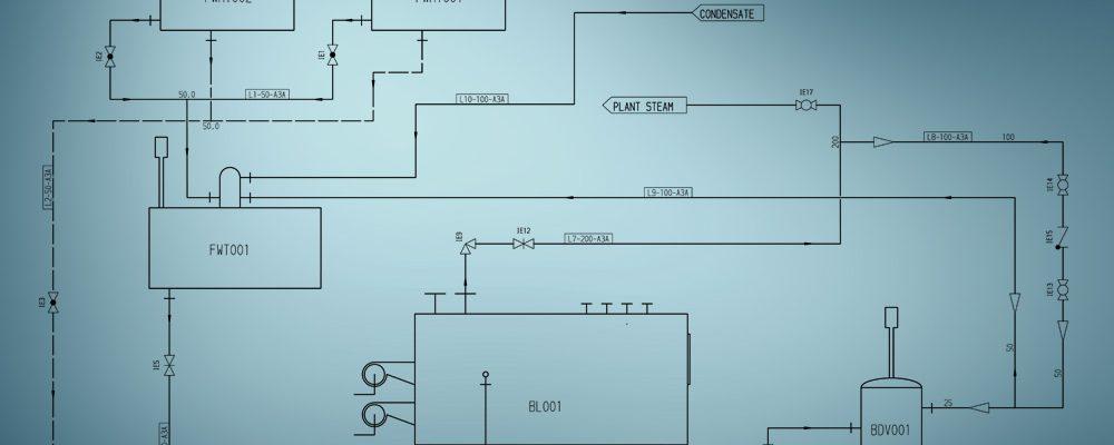 Ein Fließschema ist die Basis für die Rohrleitungsplanung