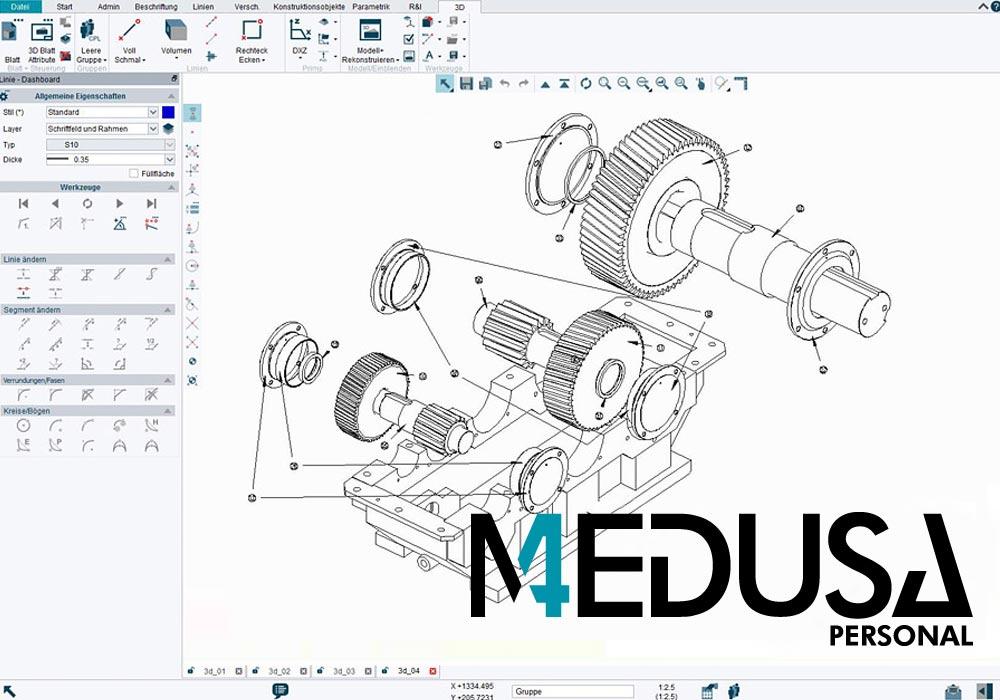 MEDUSA4 Personal ist eine CAD-Software und für Handwerker kostengünstig verwendbar