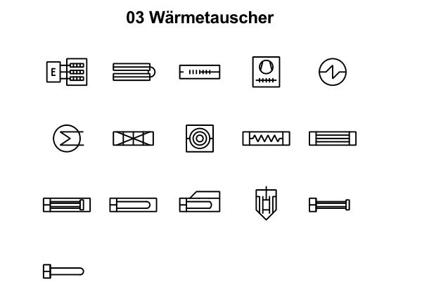 R&I und P&ID Symbole für Fliessbild - Waemetauscher