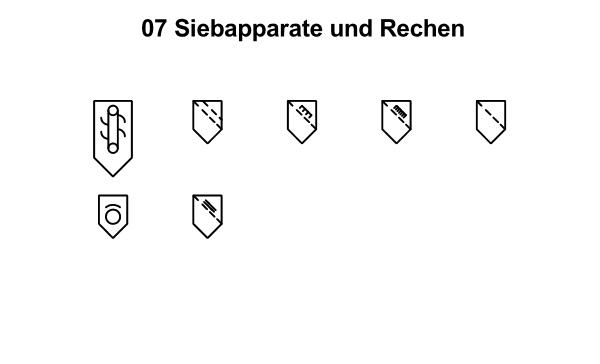 R&I und P&ID Symbole für Fließbild - Siebapparate