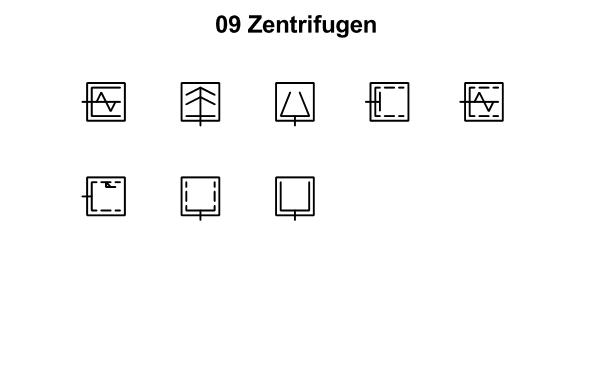 R&I und P&ID Symbole für Fließbild - Zentrifugen