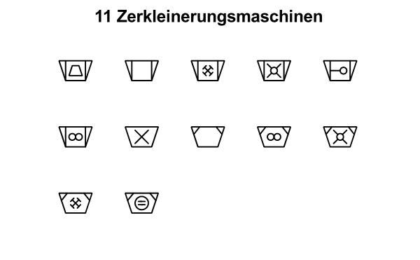 R&I und P&ID Symbole für Fließbild - Zerkleinerungsmaschinen