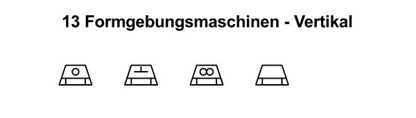 R&I und P&ID Symbole für Fließbild - Formgebungsmaschinen-Vertikal