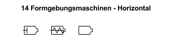 R&I und P&ID Symbole für Fließbild - Formgebungsmaschinen-Horizontal