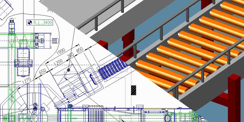 Fabriklayout in 2D und 3D
