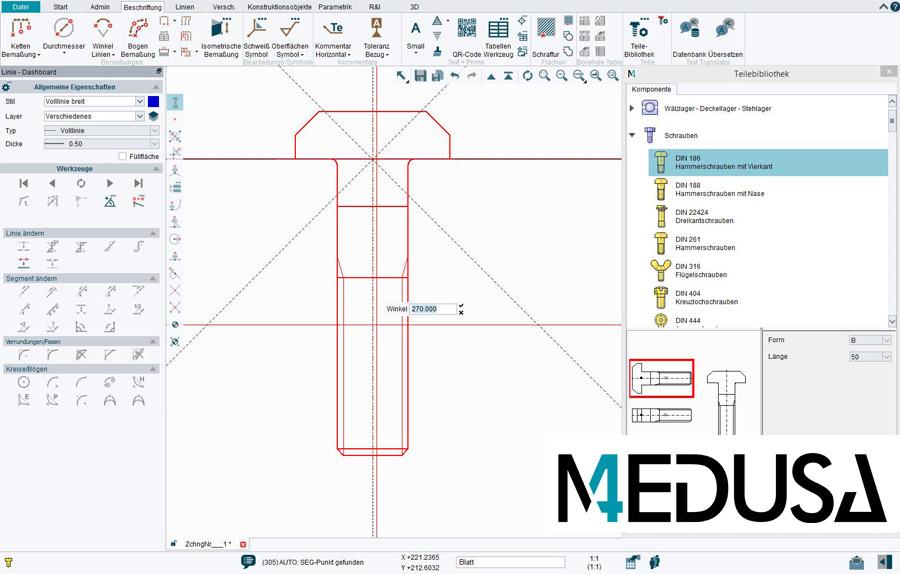 Technische Zeichnung Symbole für den Maschinenbau, Rohrleitungsbau und Stahlbau