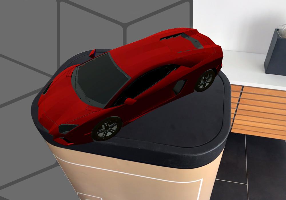 Der neue AR-Viewer i4 AUGMENTED REVIEW ermöglicht das Einblenden von 3D-Modellen in die reale Umgebung