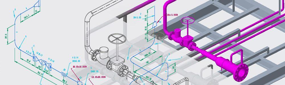 Einfache Erzeugung von Rohrleitungsisometrien aus Creo oder PCF