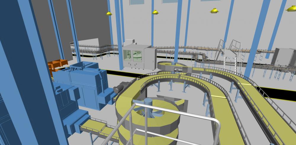 Maschinenaufstellung Rohrleitungsbau Burckhardt Compression