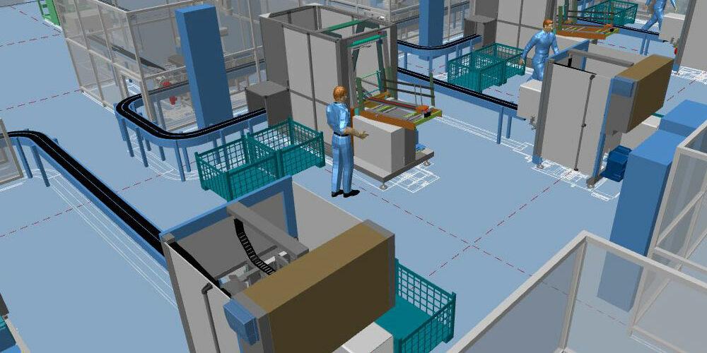Moderne Fabrikplanung dank dem 3D-Fabriklayout