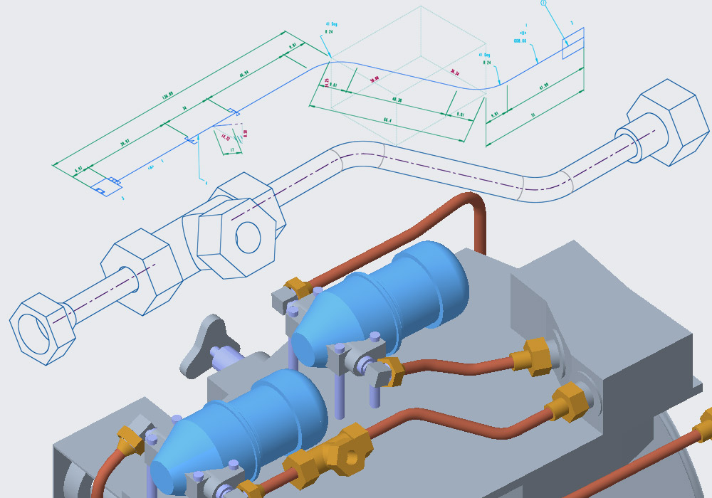 Rohrleitungsisometrien direkt in Creo Piping erzeugen