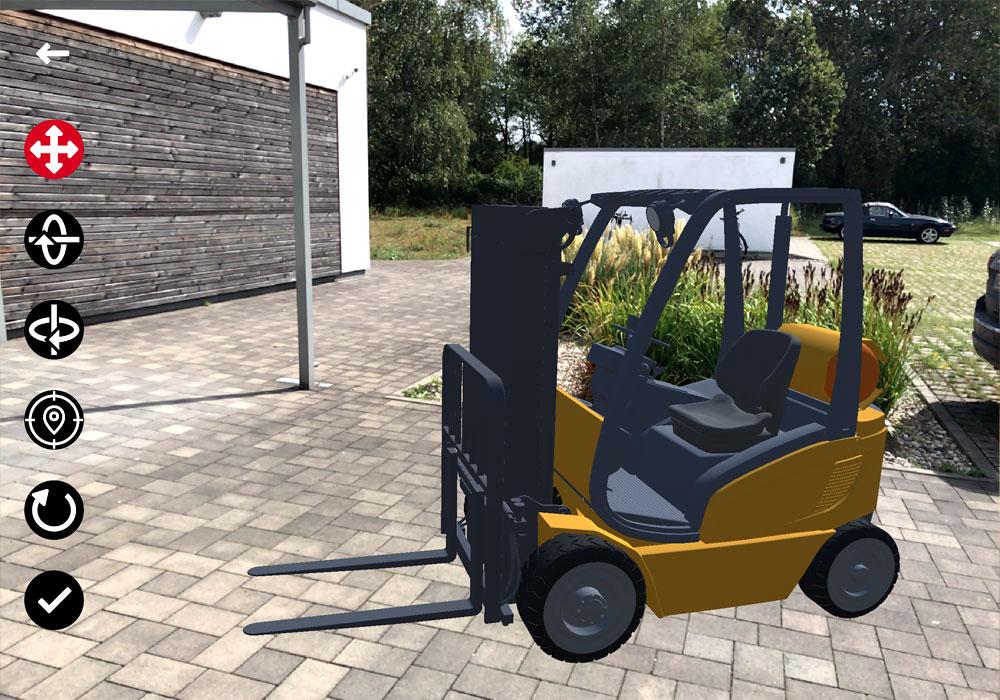 i4 AUGMENTED REVIEW ermöglicht das Einblenden von 3D-Modellen in die reale Umgebung