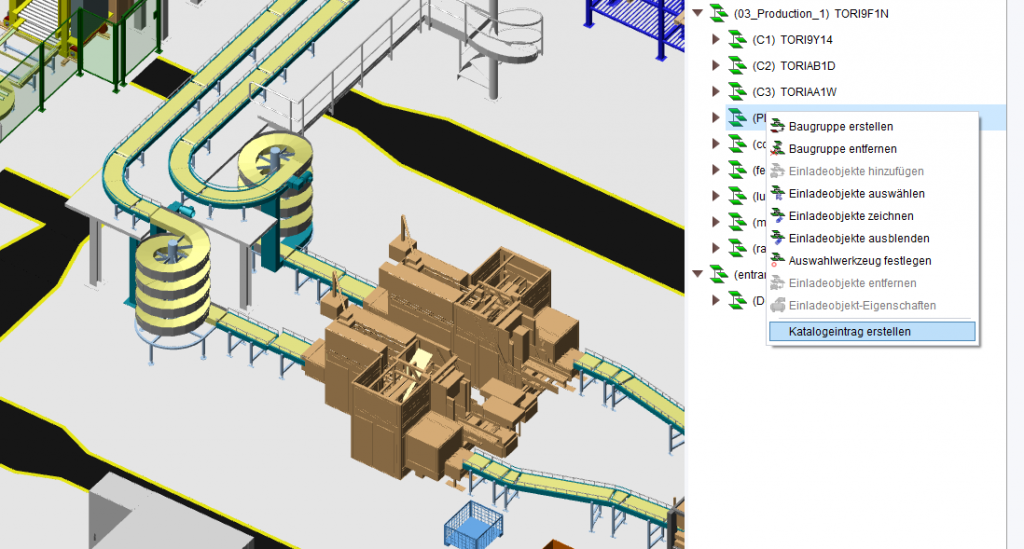 3D Layout Gruppen in Katalog