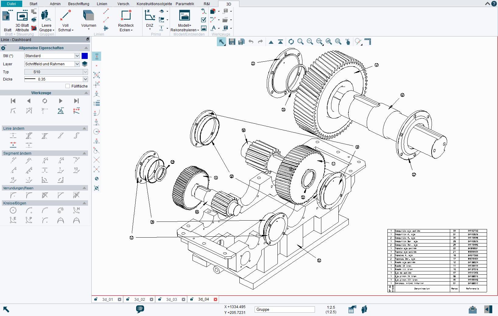 3D Modelle lassen sich in 3D schnell und einfach direkt aus mehreren 2D-Ansichten modellieren.