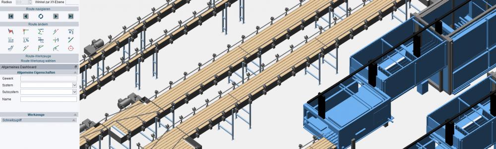 M4 FACTORY - Maschinen importieren und Fördertechnik platzieren